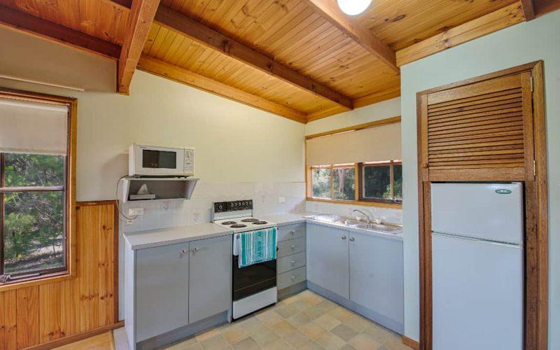 Murray Cottage kitchen at Glen Ayr Cottages