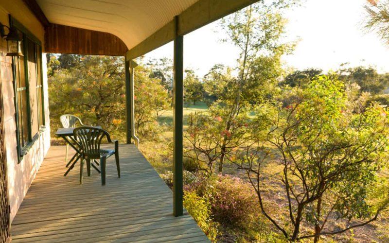Sutherland Cottage verandah at Glen Ayr Cottages